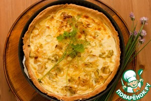 Рецепт Сырный пирог с луком-пореем