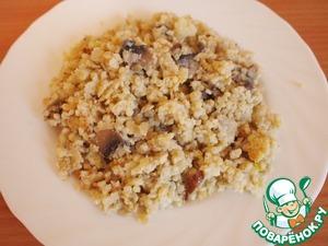 Рецепт Пшенная каша с грибами