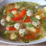 Суп с фрикадельками и клецками Весенний