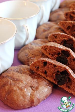 Рецепт Шоколадные булочки с черносливом