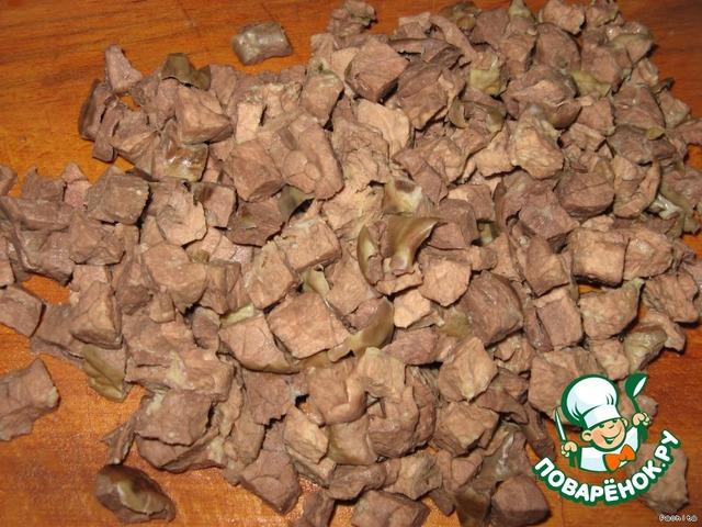 рецепты из легкого свиного салаты