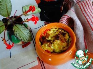 Рецепт Постный жюльен из овощей с рисом