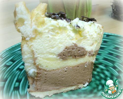 """Лимонно-шоколадный торт с баварским кремом """"Шарлотка"""""""