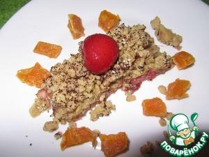 Рецепт Овсяный пирог с яблоком и клубникой