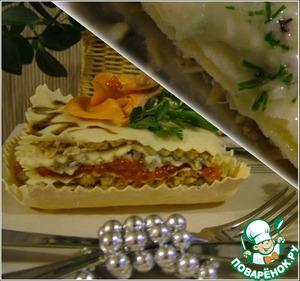 Рецепт Лазанья с рыбой и горгонзолой. Холодный и горячий варианты