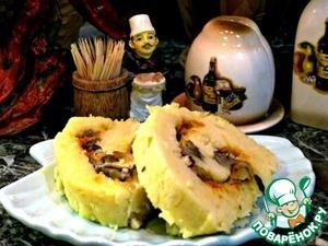 Рецепт Постный картофельный рулет с грибами