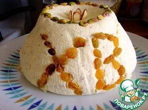 Рецепт Творожная Пасха с орехами и курагой