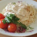 Спагетти со сливочным соусом