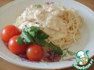 Рецепт Спагетти со сливочным соусом