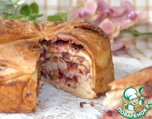 Рецепт Пирог с клюквой и кедровой пастой
