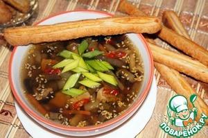 Рецепт Грибной суп с баклажанами