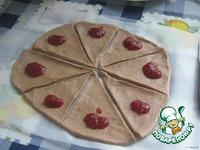 Какао-рогалики с малиновым вареньем и с шоколадной пастой ингредиенты