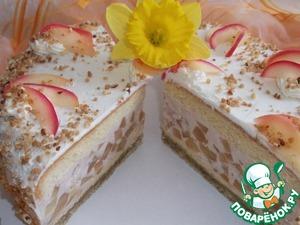 Рецепт Яблочный торт на орехово-марципановой подушке
