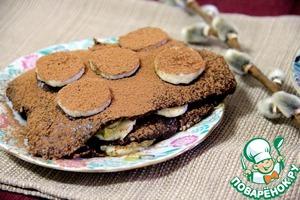 Рецепт Шоколадное пирожное с кремом из авокадо
