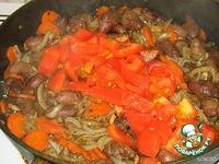 Куриные сердечки, тушенные с морковью и грибами ингредиенты