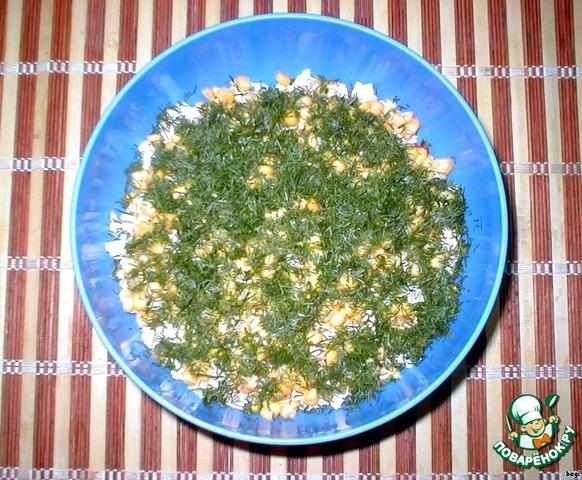 Крабовый салат укроп