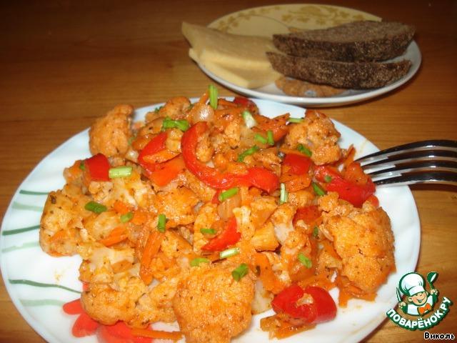 Цветная капуста с рисом рецепты на зиму