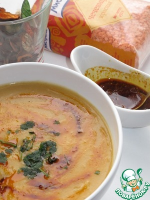 Рецепт Чечевичный суп с пряной заправкой