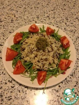 Рецепт Ризотто с помидорами, рукколой и песто