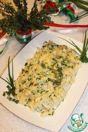 Рецепт Тёплый салат с курицей, шнитт-луком и тимьяном