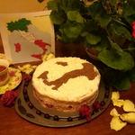 """Вишневый торт с рикоттой """"Сапожок"""""""