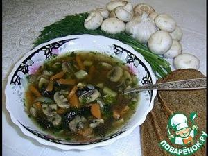 Рецепт Грибной суп из шампиньонов