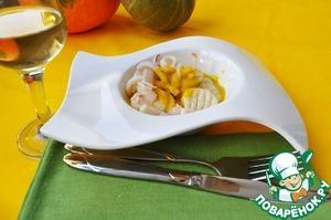 Рецепт Ньокки с кальмарами в тыквенном соусе