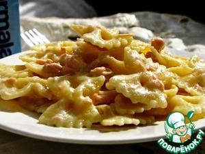 Рецепт Фарфалле с копченым лососем