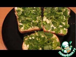"Рецепт ""Летние"" бутерброды с зеленью"