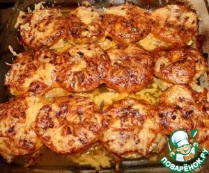 Рецепт Мясо под ананасами