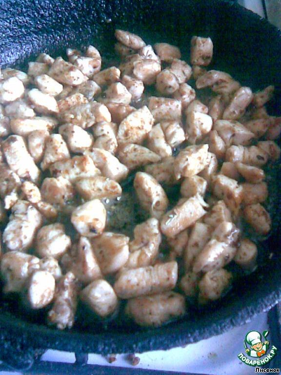 озорной цыпленок салат
