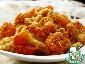 Рецепт Кальмары и креветки в панировке