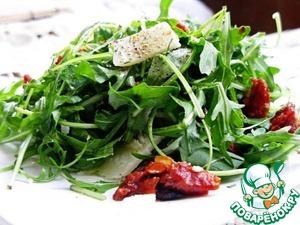 Рецепт Салат с рукколой и вялеными помидорами