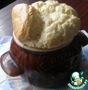 Рецепт Сырное суфле с крабами