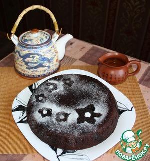 Рецепт Шоколадный пирог с вишней и орехами