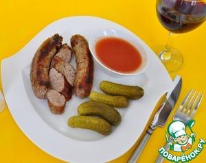 Рецепт Колбаски итальянские на гриле