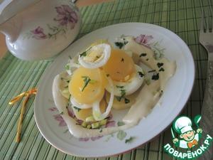 Рецепт Картофельный салат со сливочным соусом