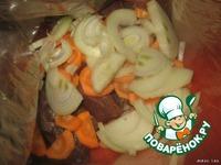 Картофель с печенью и грибами в рукаве ингредиенты