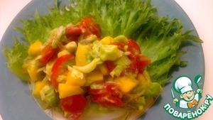 Рецепт Вегетарианский салат с манго и авокадо