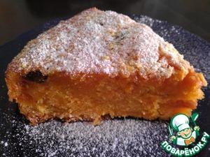 Рецепт Пряный морковный пирог с изюмом и курагой