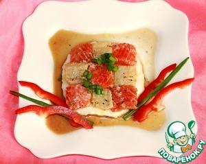 Рецепт Шахматная доска с рисовым кремом и грибным соусом