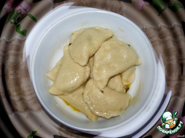 Вареники с капустой и салом рецепт с пошагово