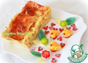Рецепт Десертная лазанья с грушей и сыром