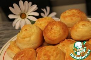 Рецепт Булочки из творожного теста с сыром