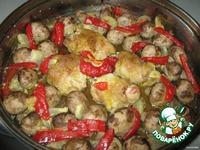 Куриные голени с шампиньонами ингредиенты