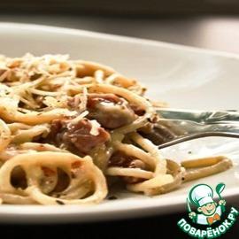Спагетти с обжаренной говядиной и салями простой пошаговый рецепт с фотографиями как приготовить