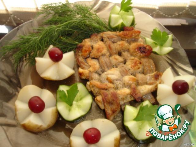 Как готовить Плетеная мясная котлета простой рецепт с фото пошагово #5