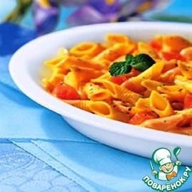 Рецепт Пенне с помидорами черри и козьим сыром