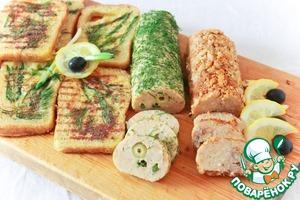 Рецепт Домашние паровые колбаски с гренками в весеннем стиле