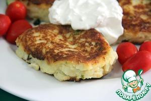 Рецепт Картофельно-творожные пирожки с моцареллой